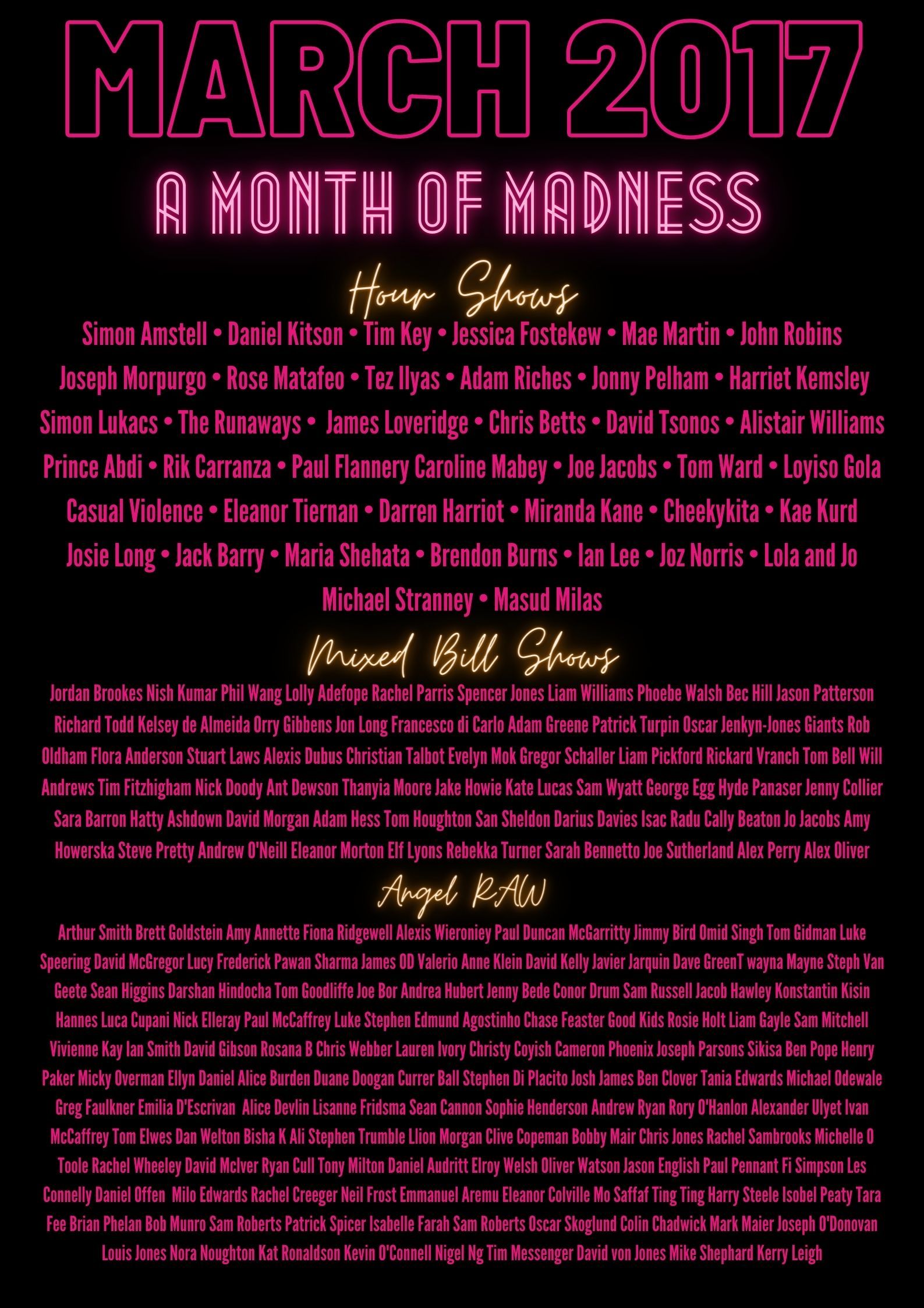 Holy shit bruh have you seen these lineups?